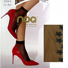 Düfte, Parfümerie und Kosmetik Kurze Damensocken Stars 20 Den Naturel/Fumo - Knittex