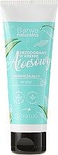 Düfte, Parfümerie und Kosmetik Erfrischende Fußdeo-Creme mit Aloeextrakt - Barwa Natural Aloe Deodorant Cream