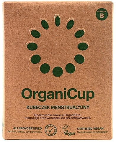 Menstruationstasse Größe B - OrganiCup — Bild N2