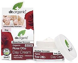 Düfte, Parfümerie und Kosmetik Nährende, feuchtigkeitsspendende und straffende Tagescreme mit Bio Rosenattar für reife Haut - Dr. Organic Bioactive Skincare Rose Otto Day Cream