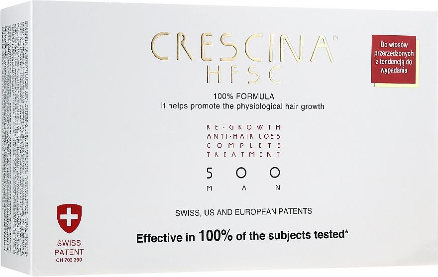 Wiederherstellendes Lotion-Konzentrat gegen Haarausfall für Männer 500 - Crescina Re-Growth HFSC 100% + Crescina Anti-Hair Loss HSSC