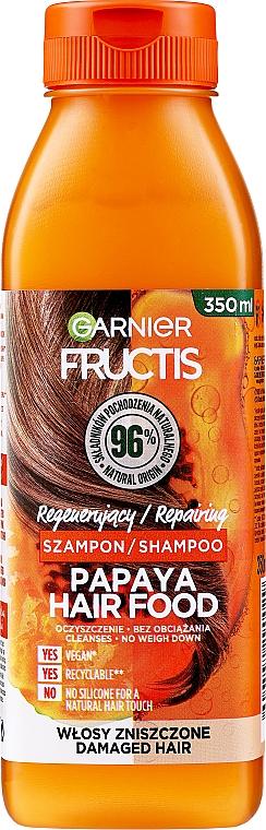 Regenerierendes Shampoo mit Papaya-Extrakt für strapaziertes Haar - Garnier Fructis Repairing Papaya Hair Food Shampoo