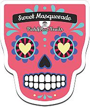 Düfte, Parfümerie und Kosmetik Revitalisierende und aufhellende Tuchmaske für das Gesicht mit Himbeer- und Erdbeerextrakt - Dr Mola Sweet Masquarade Red&Pink Fruits mask