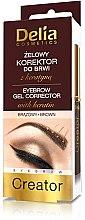 Düfte, Parfümerie und Kosmetik Augenbrauengel - Delia Cosmetics Eyebrow Gel