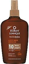 Düfte, Parfümerie und Kosmetik Trockenes Sonnenschutzöl-Spray für den Körper SPF 10 - Ecran Sunnique Sunscreen Silky Oil Spf10