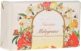 Düfte, Parfümerie und Kosmetik Naturseife Narcissus & Pomegranate - Saponificio Artigianale Fiorentino Narcissus & Pomegranate Soap Incontri Collection