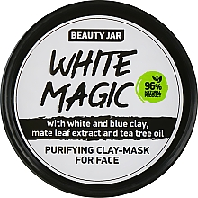 Düfte, Parfümerie und Kosmetik Reinigende Detox Gesichtsmaske mit weißem und blauem Ton, Mate-Strauch und Teebaumöl - Beauty Jar White Magic
