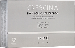 Düfte, Parfümerie und Kosmetik Anti-Haarausfall Ampullen für Männer 1900 - Crescina Hair Follicular Island Re-Growth + Anti-Hair Loss 1900 Man