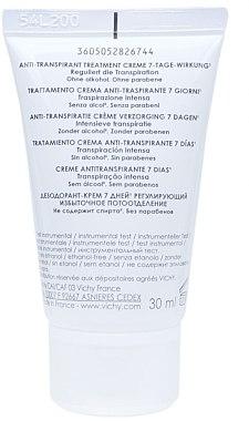 Deo-Creme Antitranspirant mit 7-Tage-Wirkung - Vichy 7 Day  — Bild N3