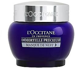 Düfte, Parfümerie und Kosmetik Anti-Falten Nachtmaske mit Hyaluronsäure - L'Occitane Immortelle Precieuse Overnight Mask