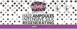 Düfte, Parfümerie und Kosmetik Intensiv regenerierende und glättende Haarampullen mit Seide gegen Haarausfall und Schuppen - Ronney Professional Hair Ampoules Intensive Silk Regenerating
