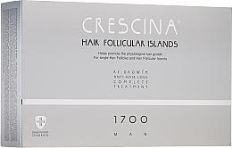 Düfte, Parfümerie und Kosmetik Anti-Haarausfall Ampullen für Männer 1700 - Crescina Hair Follicular Islands Man Complete Treatment 1700