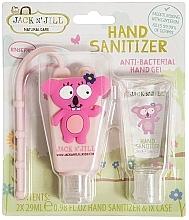 Düfte, Parfümerie und Kosmetik Antibakterielles Handpflegeset für Kinder - Jack N' Jill Hand Sanitizer Koala (Hanreinigungsgel 2x29 ml + Hülle)