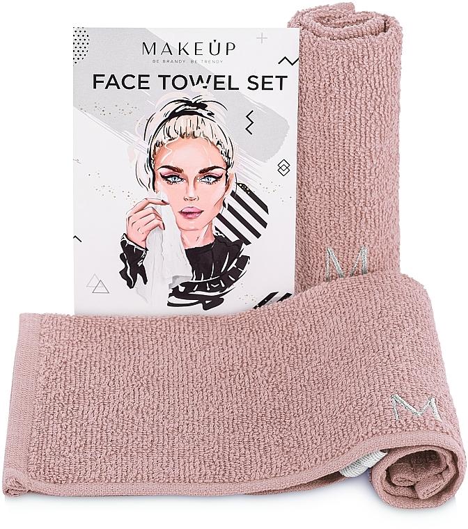 Reiseset Gesichtstücher MakeTravel beige - Makeup Face Towel Set