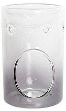 Düfte, Parfümerie und Kosmetik Glasige Aromalampe grau - Yankee Candle Savoy Grey Glass Wax Melt Burner