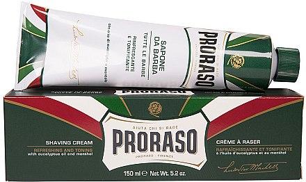 Rasiercreme mit Menthol und Eukalyptus - Proraso Green Shaving Cream