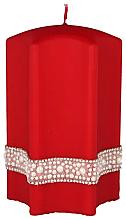 Düfte, Parfümerie und Kosmetik Dekorative Kerze Stern rot 9x14 cm - Artman Crystal Opal Pearl