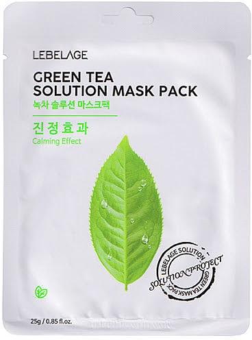 Feuchtigkeitsspendende Tuchmaske mit grünem Tee - Lebelage Green Tea Solution Mask