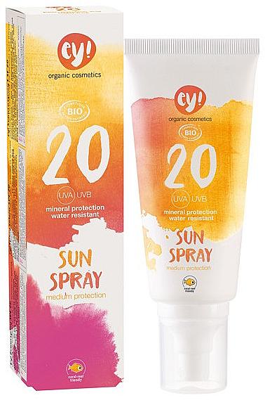 Sonnenschutzspray für Körper und Gesicht SPF 20 - Ey! Organic Cosmetics Sunspray SPF 20 — Bild N1