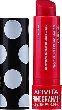 Düfte, Parfümerie und Kosmetik Feuchtigkeitsspendender Lippenbalsam mit Bio Granatapfelöl - Apivita Ruby Lips Limited Edition 40 Years Lip Care Pomegranate