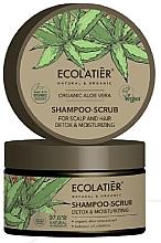 Düfte, Parfümerie und Kosmetik Entgiftendes Haar- und Kopfhaut-Peelingshampoo mit Bio-Aloe-Vera-Extrakt, Babassuöl und Vitaminen - Ecolatier Organic Aloe Vera Shampoo-Scrub