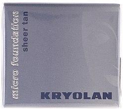 Düfte, Parfümerie und Kosmetik Wasserdichte Mousse Foundation - Kryolan HD Micro Foundation Sheer Tan