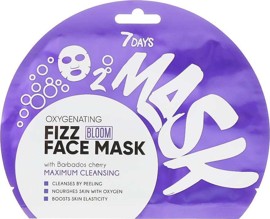 Sauerstoff-Maske für das Gesicht mit Barbados-Kirsche - 7 Days Bloom Maximum Cleansing Sheet Mask