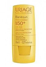 Düfte, Parfümerie und Kosmetik Transparenter Sonnenschutzstick für empfindliche Körper- und Gesichtszonen SPF 50+ - Uriage Bariesun Stick Invisible SPF50+