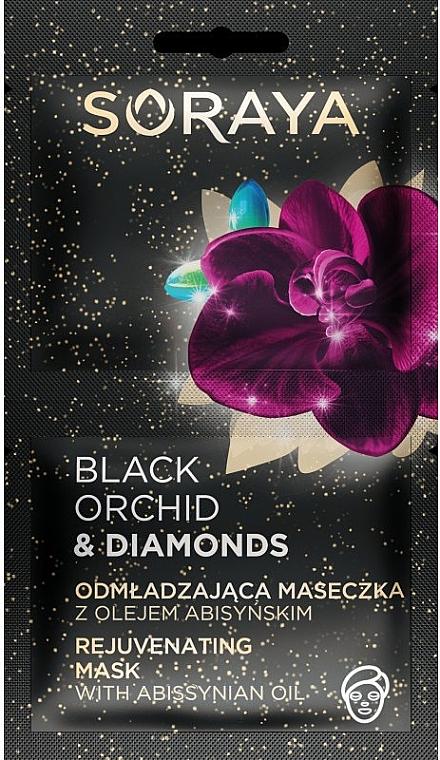 Verjüngende Gesichtsmaske mit Abyssinianöl - Soraya Black Orchid & Diamonds Rejuvenating Mask