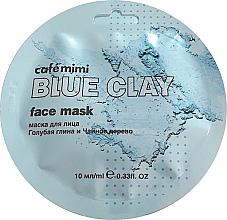 Düfte, Parfümerie und Kosmetik Gesichtsmaske mit blauer Tonerde und Teebaumextrakt - Cafe Mimi Blue Clay Face Mask