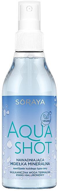 Feuchtigkeitsspendender mineralischer Gesichtsnebel mit Thermalwasser und Hyaluronsäure - Soraya Aquashot