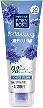 Düfte, Parfümerie und Kosmetik Beruhigende Handcreme mit Kornblume - Cztery Pory Roku Botanical Soothing Hand Cream