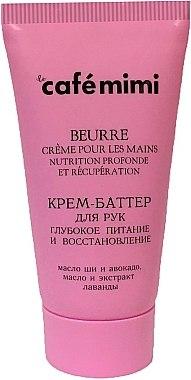 Regenerierende Creme-Butter für die Hände mit Avokadoöl und Lavendelextrakt - Le Cafe de Beaute Cafe Mimi Hand Cream Oil