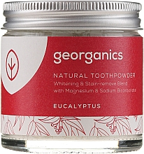 Düfte, Parfümerie und Kosmetik Aufhellendes Zahnpulver mit Magnesium und Natriumbicarbonat - Georganics Eucalyptus Natural Toothpowder