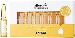 Düfte, Parfümerie und Kosmetik Aufhellende und feuchtigkeitsspendende Gesichtsampullen mit Vitamin C und Hyaluronsäure - SNP Prep Vitaronic SOS Ampoule