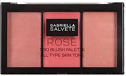 Düfte, Parfümerie und Kosmetik Make-up Palette - Gabriella Salvete Rose Trio Blush Palette