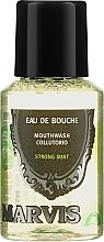 Düfte, Parfümerie und Kosmetik Mundspülung mit starkem Minzgeschmack - Marvis Concentrate Strong Mint Mouthwash (Mini)