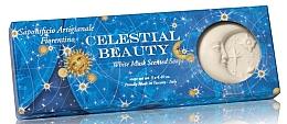 Düfte, Parfümerie und Kosmetik Naturseifenset Weißer Moschus - Saponificio Artigianale Celestial Beauty Sun or Moon White Musk Scented Soap Giotto Collection (Seife 3St. x125g)