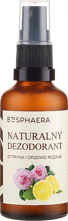 Natürliches Körperspray mit Zitrone und Rosenholz - Bosphaera