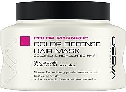 Düfte, Parfümerie und Kosmetik Farbschützende Maske für gefärbtes und gesträhntes Haar mit Seidenproteinen und Aminosäuren - Vasso Professional Color Defence Hair Mask