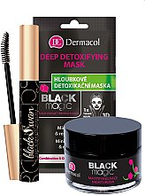 Düfte, Parfümerie und Kosmetik Gesichtspflegeset - Dermacol Black Magic (Gesichtsgel 50ml + Gesichtsmaske 1pc + Wimperntusche 10ml)
