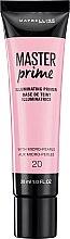 Düfte, Parfümerie und Kosmetik Langanhaltender Gesichtsprimer - Maybelline Master Prime 20 Illuminating
