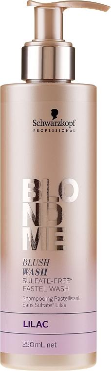 Sulfatfreies Shampoo für sofortige Pastelleffekte in blassem lila - Schwarzkopf Professional Blond Me Blush Wash Lilac