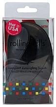 Düfte, Parfümerie und Kosmetik Kompakte Haarbürste schwarz - Rolling Hills Compact Detangling Brush Black