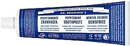 Düfte, Parfümerie und Kosmetik Aufhellende Zahnpasta mit Minze ohne Fluorid - Dr. Bronner's Peppermint Tootpaste