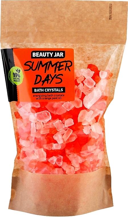 Energetisierende Badekristalle mit Orangenschalenöl - Beauty Jar Summer Days Energizing Bath Crystals with Orange Peel Oil