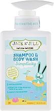 Düfte, Parfümerie und Kosmetik 2in1 Duschgel und Shampoo für Kinder und Babys - Jack N' Jill Simplicity Shampoo & Body Wash