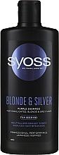 Düfte, Parfümerie und Kosmetik Shampoo gegen Gelbstich für gebleichtes, blondes und graues Haar - Syoss Blond & Silver Purple Shampoo For Highlighted, Blonde & Grey Hair