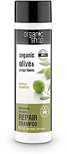 Düfte, Parfümerie und Kosmetik Reparierendes Shampoo mit Bio Oliven & Orangenblüten - Organic Shop Organic Olive and Argan Oil Repair Shampoo