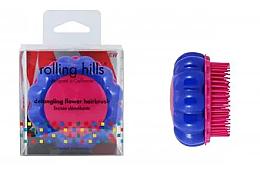 Düfte, Parfümerie und Kosmetik Kompakte Haarbürste Kamille blau-rosa - Rolling Hills Brosse Desenredar Flower